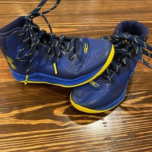 Under Armour Steph Curry basketball shoes.